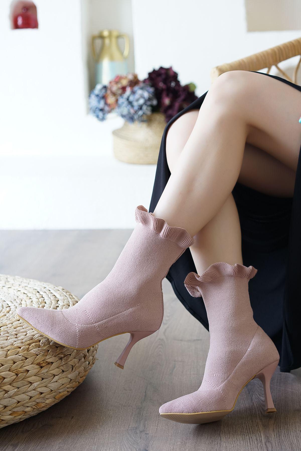 Renz Pudra Triko Çorap Kadın Bot